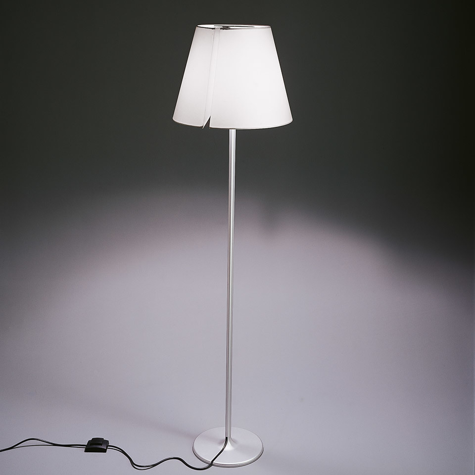 Floor lamp Artemide MELAMPO gray aluminum