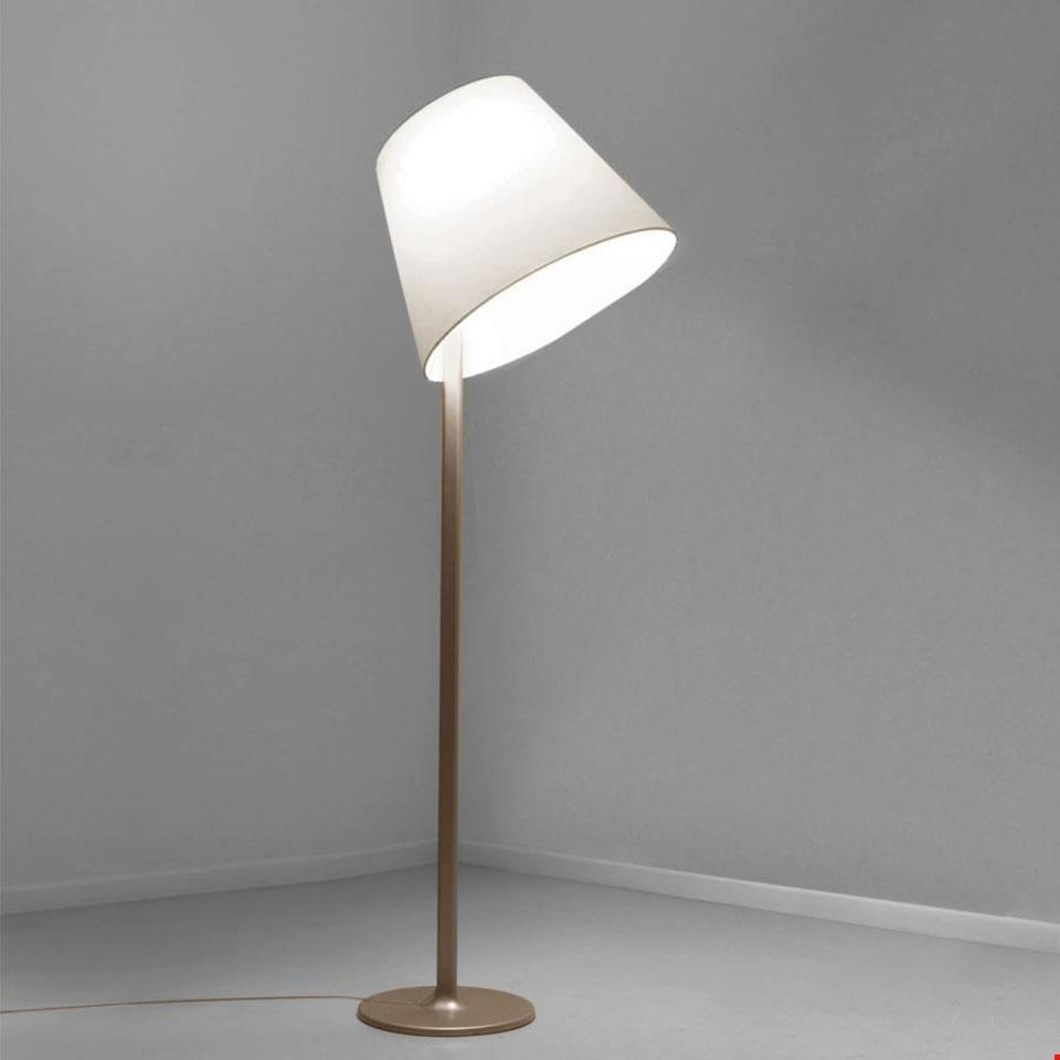 Floor lamp Artemide MELAMPO Mega gray aluminum