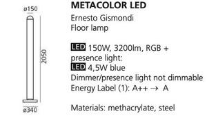 Floor lamp Artemide METACOLOR LED RGB small 1