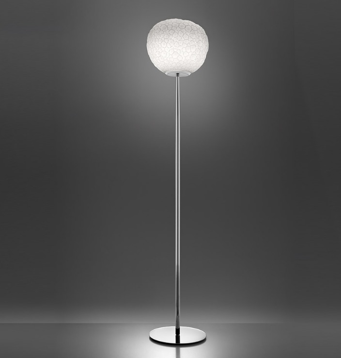 Floor lamp Artemide METEORITE 35 polished chrome