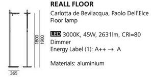 Floor lamp Artemide REALL Led small 1
