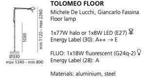 Floor lamp Artemide Tolomeo Aluminum small 1