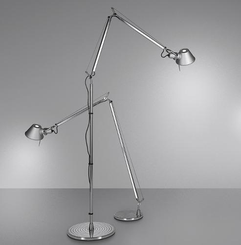 Floor lamp Artemide Tolomeo Aluminum