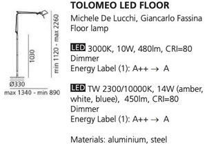 Floor lamp Artemide LED FLOOR small 1