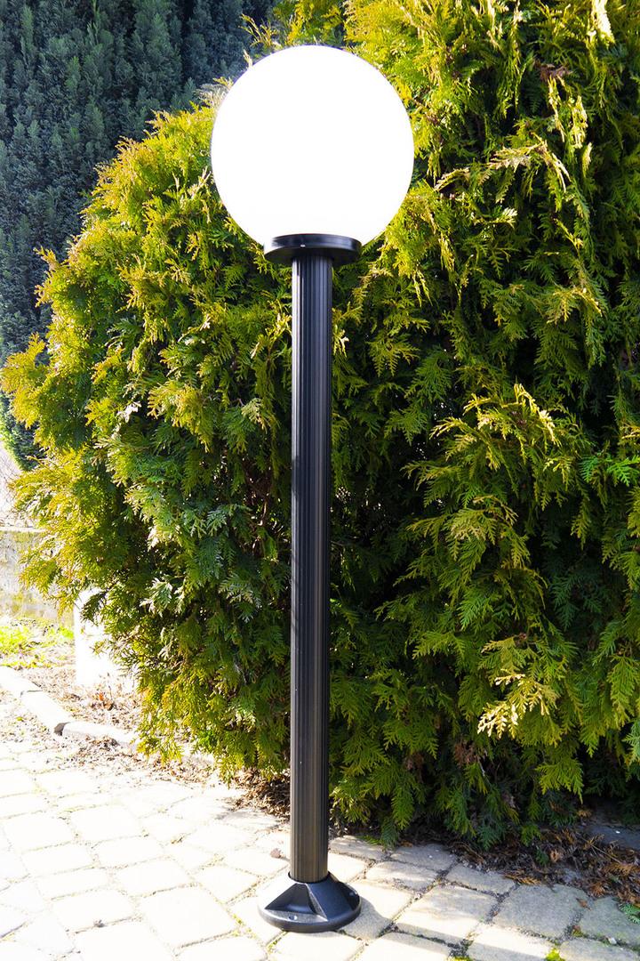 Garden lamp standing Moon lamp white 20 cm E27 black post 100 cm