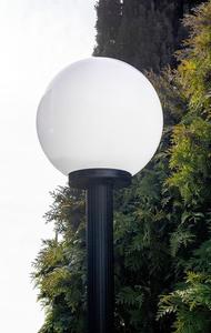 Garden lamp standing Moon lamp white 20 cm E27 black post 100 cm small 1