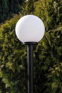 Garden lamp standing Moon lamp white 20 cm E27 black post 100 cm small 2