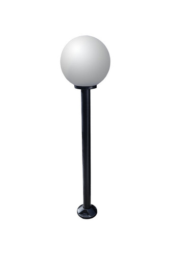 Garden lamp standing Moon lamp white 20 cm E27 black post 100 cm