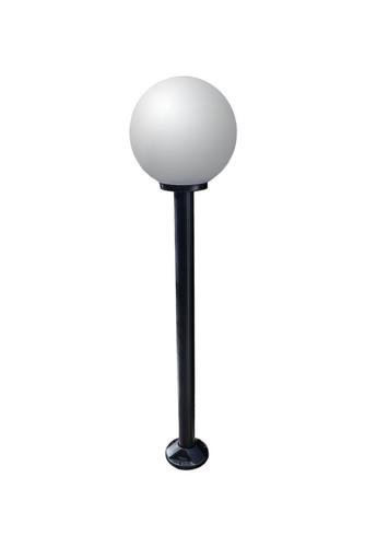 Garden lamp standing Moon lamp white 40 cm E27 black pole 100 cm