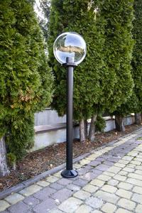 Garden lamp standing Moon lamp transparent 30 cm E27 black post 100 cm small 2