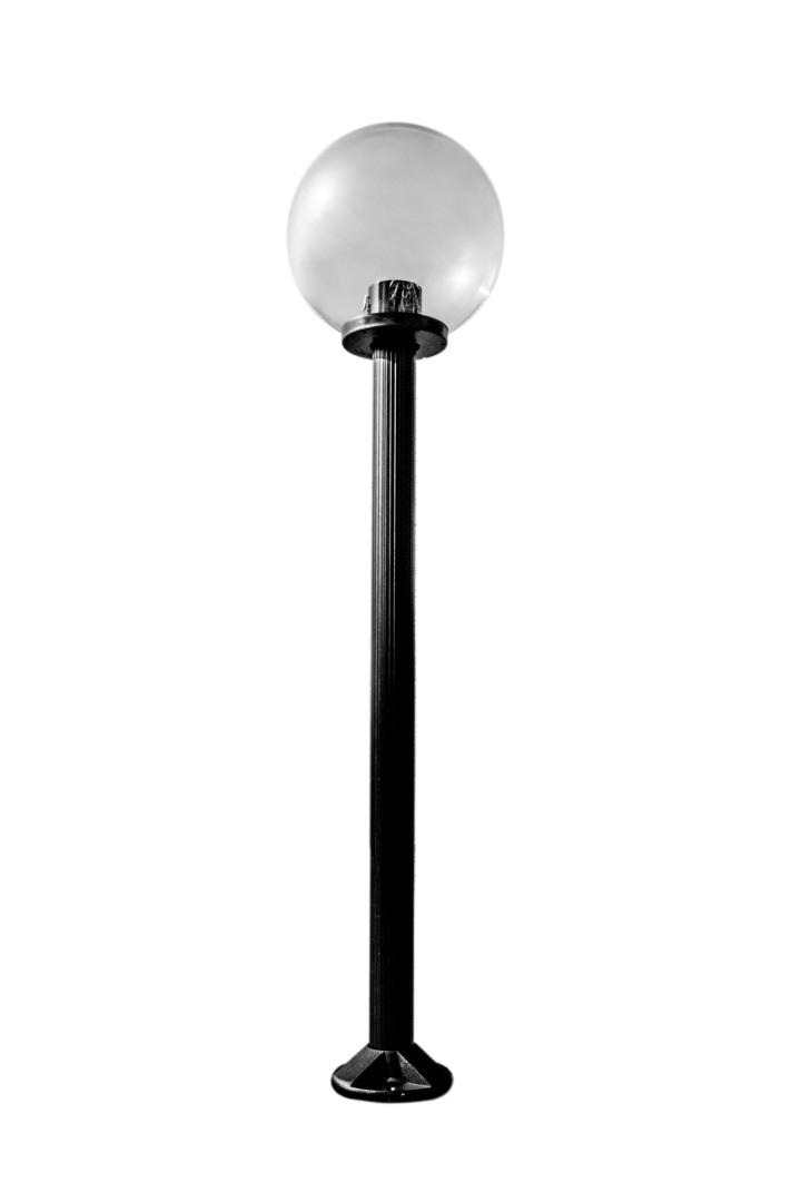 Garden lamp standing Moon lamp transparent 30 cm E27 black post 100 cm