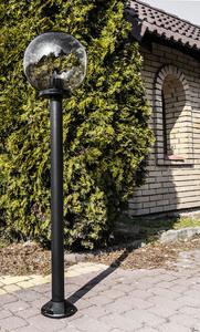 Garden lamp standing Moon lamp smoked 20 cm E27 black post 100 cm small 2