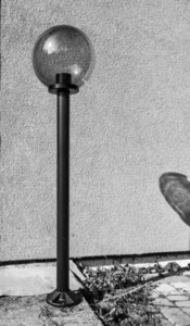 Garden lamp standing Moon lamp smoked 20 cm E27 black post 100 cm small 4