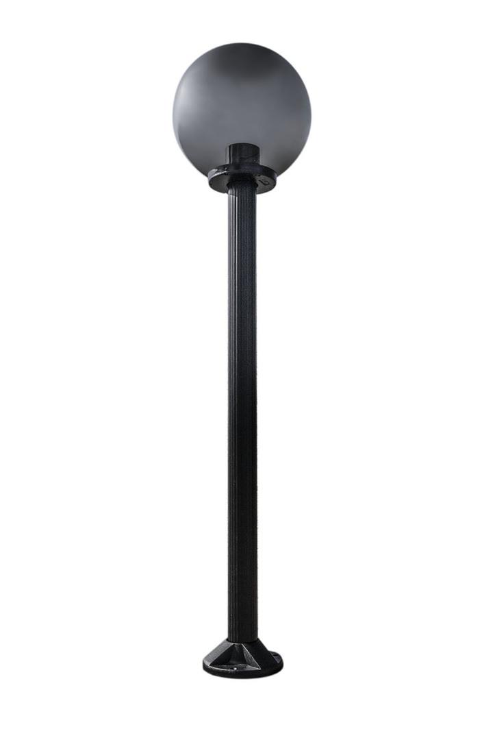 Garden lamp standing Moon lamp smoked 30 cm E27 black post 100 cm