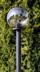 Garden lamp standing Moon lamp smoked 40 cm E27 black post 100 cm small 2