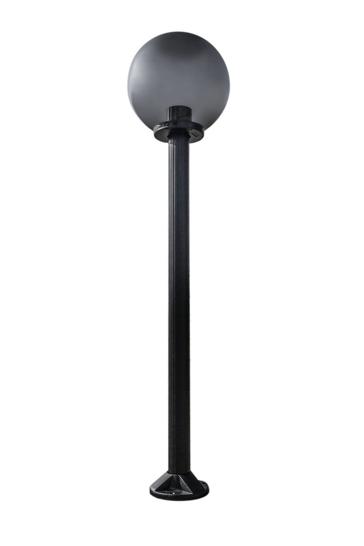 Garden lamp standing Moon lamp smoked 40 cm E27 black post 100 cm
