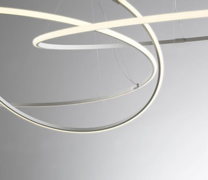 Hanging lamp Fabbian Olympic F45 45W 60.2cm 3000K - White - F45A0701 small 8