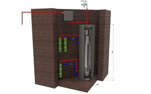 Induction boiler 2.0 kw for heating the area of 40m² small 2