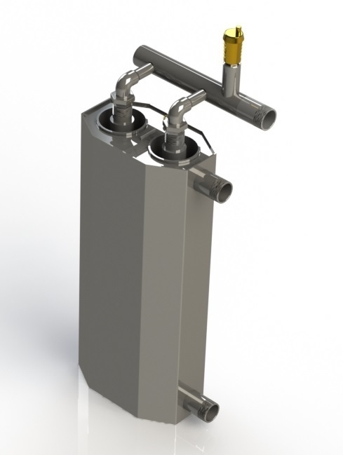 4.5kW double induction boiler for heating the area of 90m² - 105m²