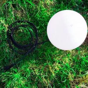 Decorative garden ball 25cm Luna Ball with assembly set small 2