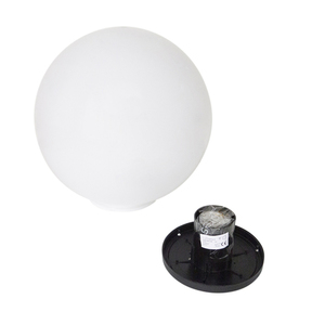 Decorative Ball White Gloss - Luna Ball 50 cm with assembly kit, 3m cable, fastening post small 5