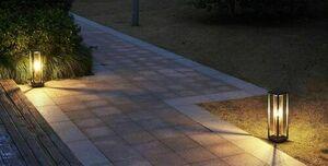 Porto garden floor lamp 50cm + LED filament bulb small 0