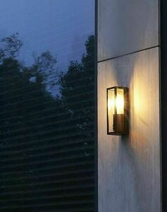 Porto outdoor wall sconce + LED filament bulb small 1