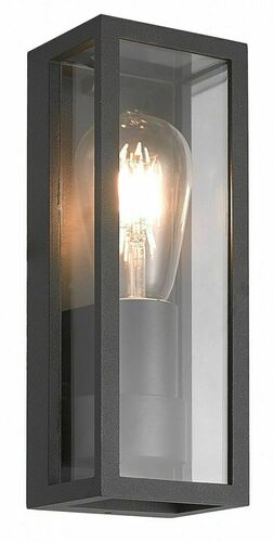 Porto outdoor wall sconce + LED filament bulb