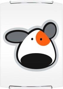 Lampa dla dziecka Piesek - kinkiet Doggy biały/ chrom 60W E27