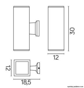 Outdoor wall lamp ADELA 8001 DG, dark gray small 1