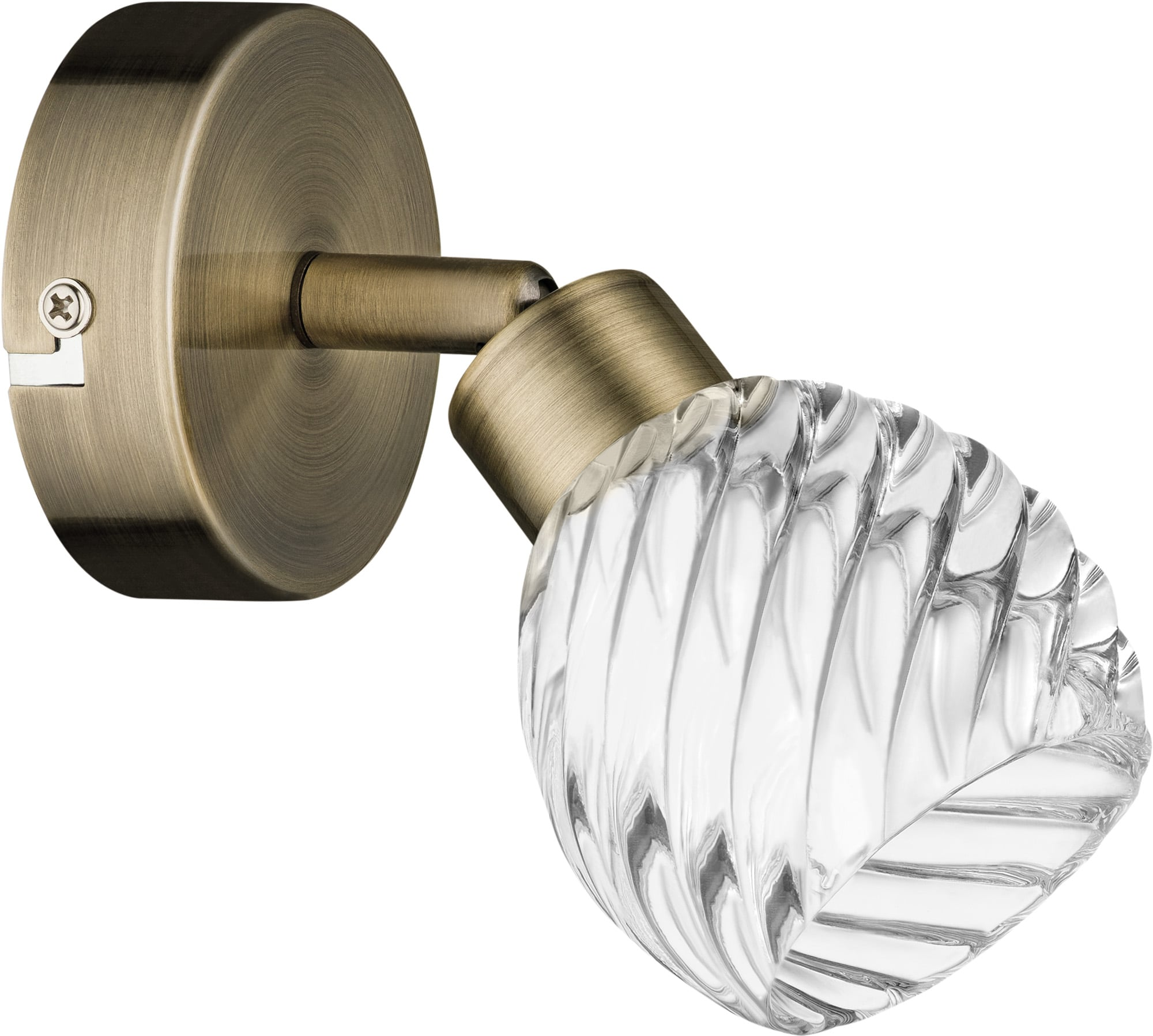 Patina classic wall lamp Wave Glass lampshade G9 28W