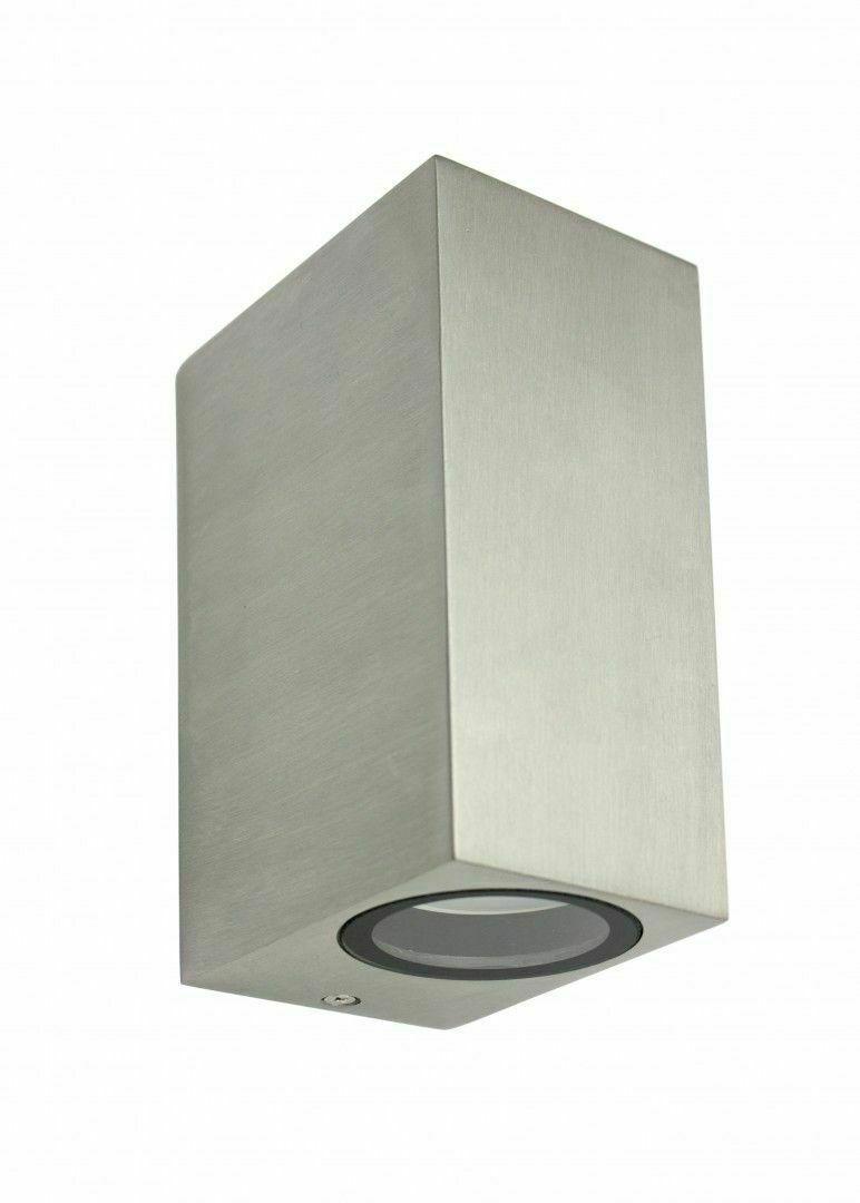 Outdoor wall lamp MINI 5002 BR, brushed aluminum
