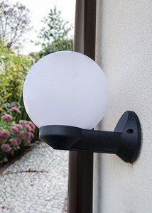 Modern outdoor wall lamp Luna Ball 25 cm E27 LED white small 1