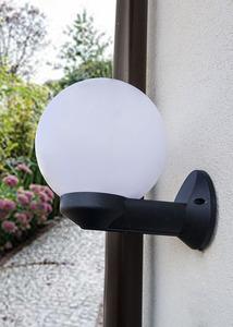 Garden wall lamp Luna Ball 20 cm white E27 LED small 1