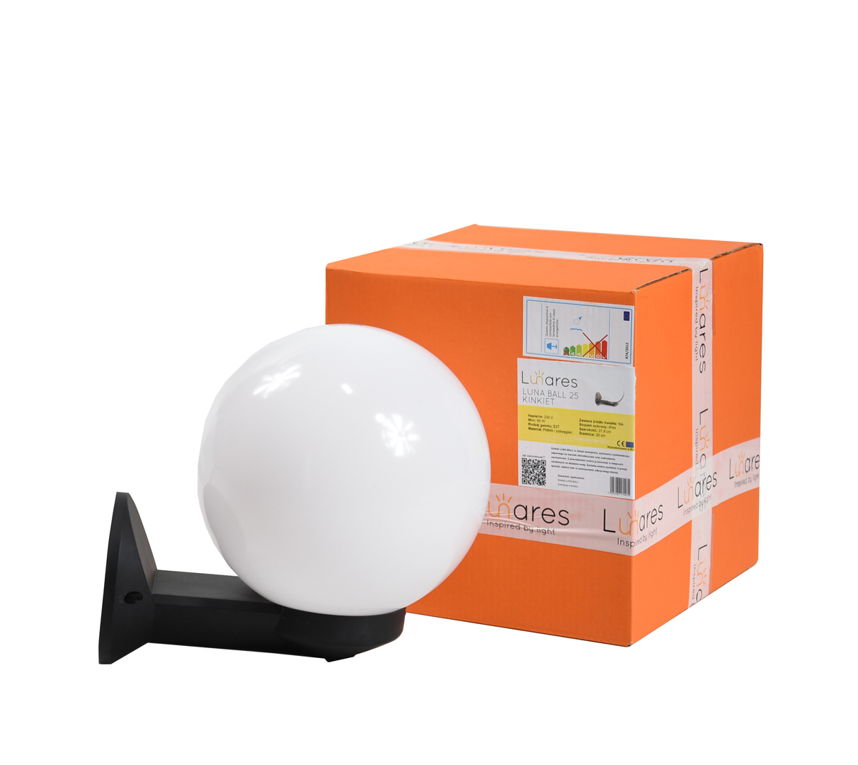 Garden wall lamp Luna Ball 20 cm white E27 LED