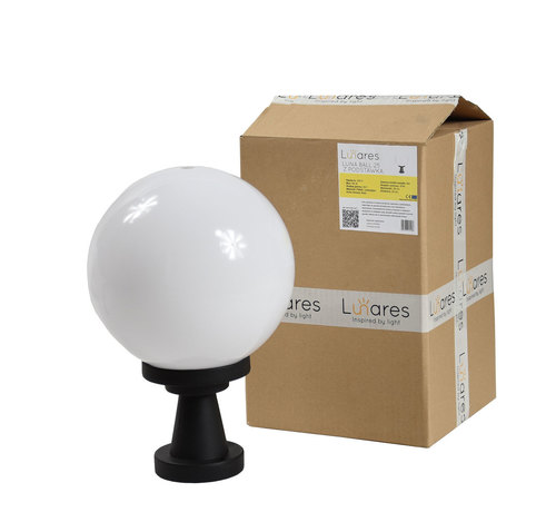Garden lamp Luna Ball Plinto 25 cm E27 LED white pedestal