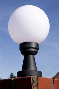 Garden lamp Luna Ball Plinto 25 cm E27 LED white pedestal small 1