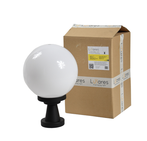 Garden lamp Luna Ball Plinto 20 cm E27 LED white pedestal