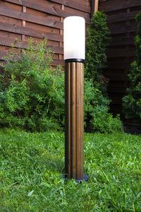 Lighting post Luna Torch 85 cm E27 wooden white lampshade small 3