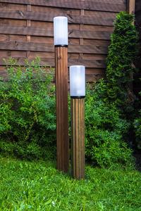 Lighting post Luna Torch 85 cm E27 wooden white lampshade small 4