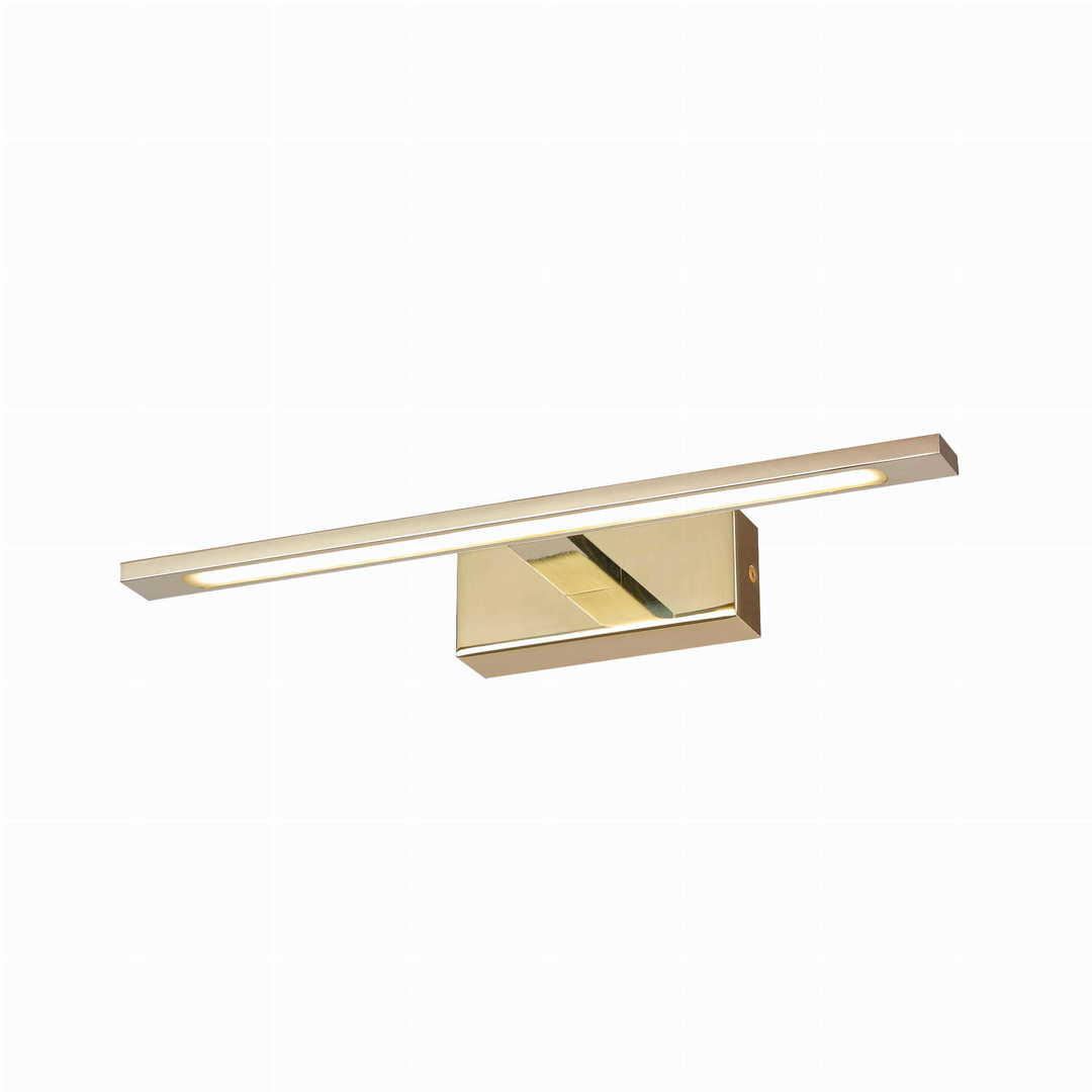 Isla wall lamp above the mirror in the bathroom, gold IP44