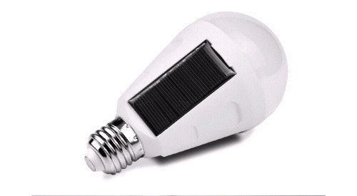 7W E27 solar bulb with twilight sensor