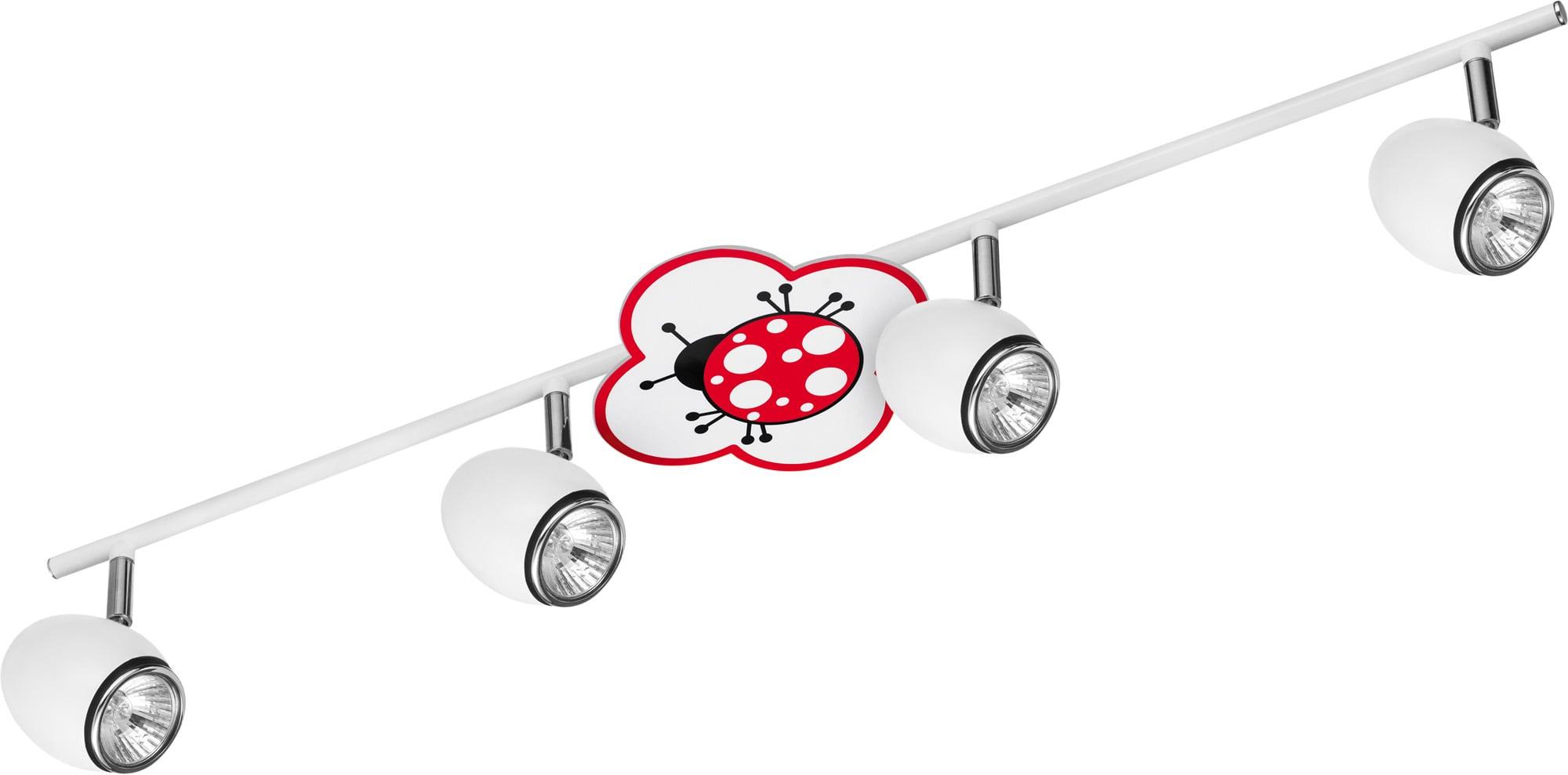 Lamp for a child Biedronka - Fly white / chrome 4x50W GU10