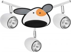 Lampa dla dziecka Piesek - Doggy biały/ chrom LED 3x4,5W GU10