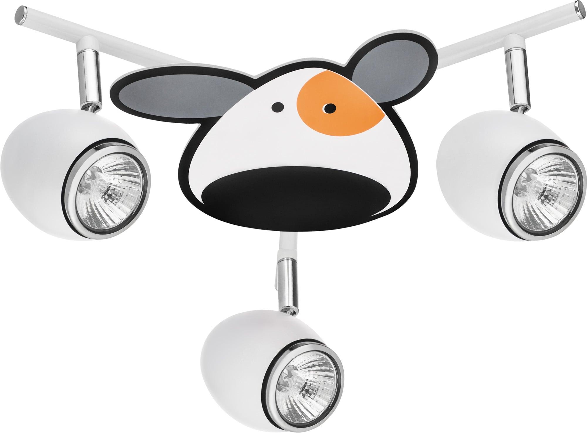Child's lamp Piesek - Doggy biały / chrom LED 3x4,5W GU10