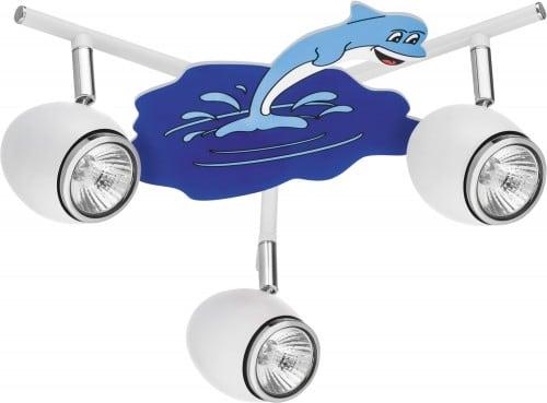 Lamp for child Delfin white / chrome LED GU10 3x4,5W