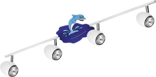 Lamp for child Delfin white / chrome LED GU10 4x4,5W