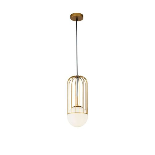Maytoni Ceiling Pendant Aluminium 1-Light Cylinder Shelby Black