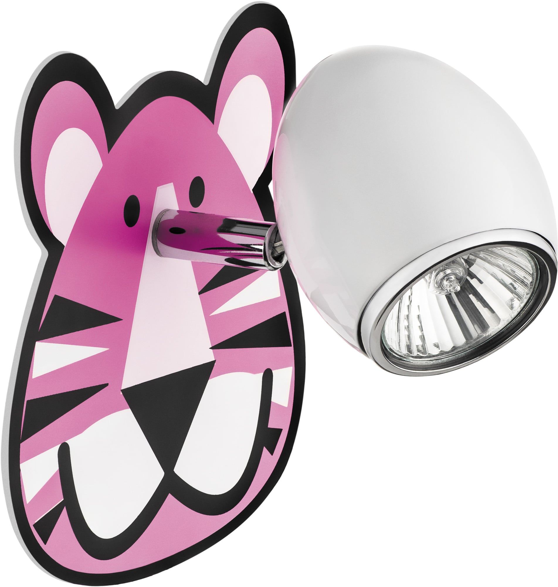 Lapma for child Tygrys - wall lamp Lenny white / chrome LED 4,5W GU10