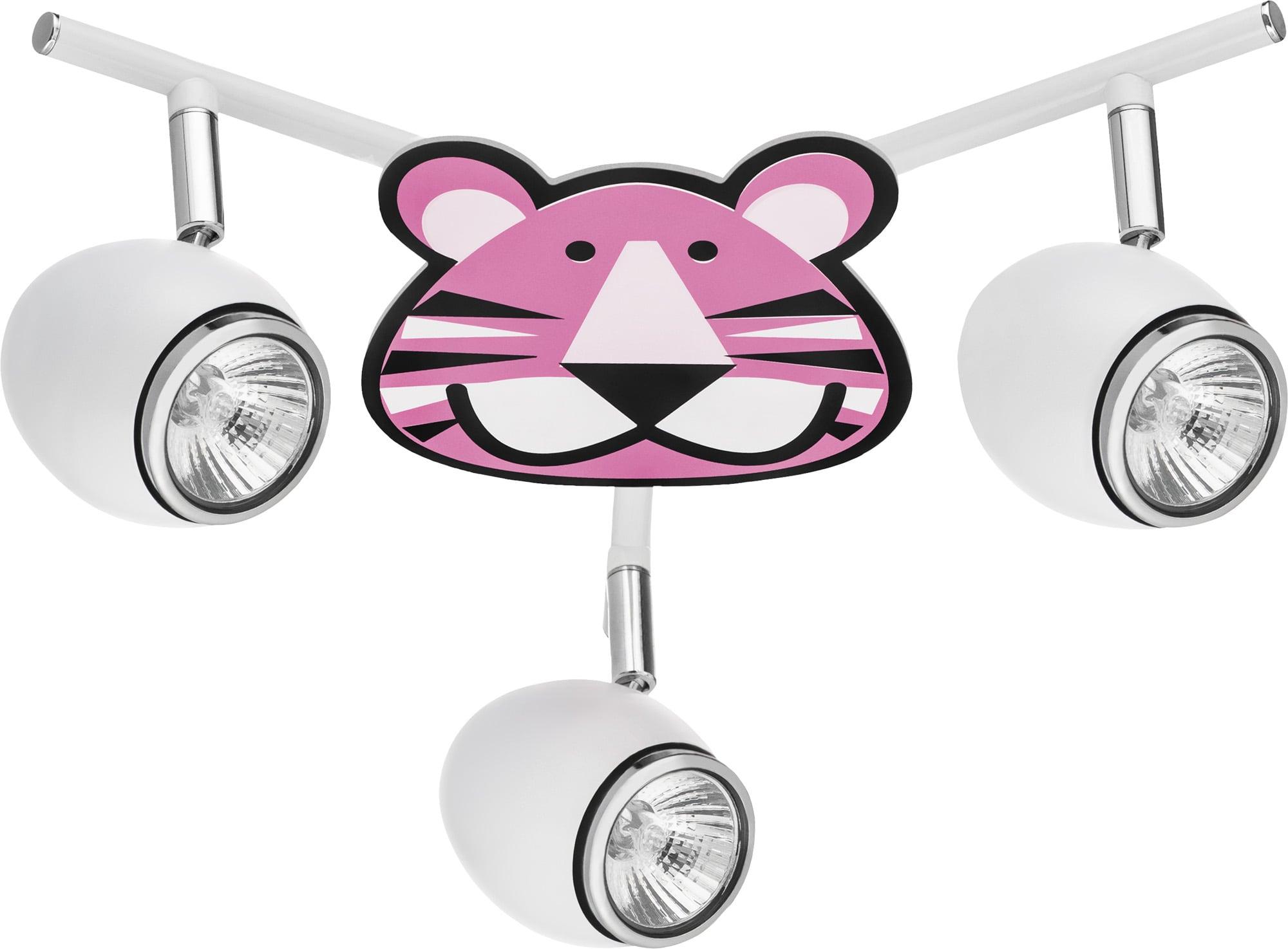 Lamp for child Tygrys - Lenny white / chrome LED 3x4,5W GU10
